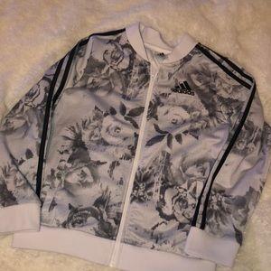 Adidas floral full zip track jacket